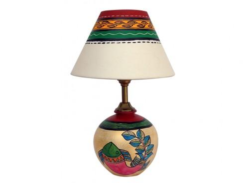 Earthen Matki Lamp - Gold Finish