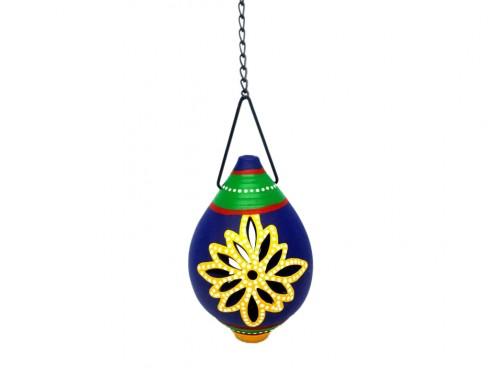 Tealight Holder Hanging Shankh - Blue