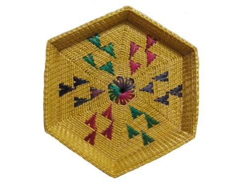 Beautiful Golden Grass Gift Basket From Odisha