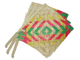 Bamboo Hand Fan (Set of 3 pieces)