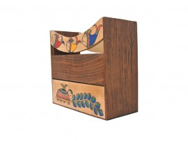 Wooden Hand Painted Magzine Stand