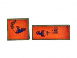 MDF Tray Hand Painted (Set of 2)