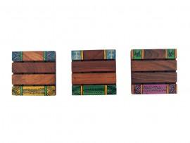 Wood Stripes Tea Coaster