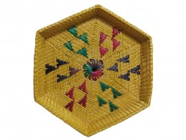 Beautiful Golden Grass Gift Basket From Odisha