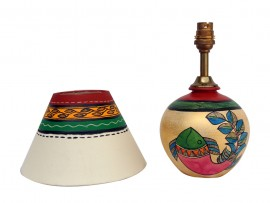 Earthen Matki Lamp - Gold Finish
