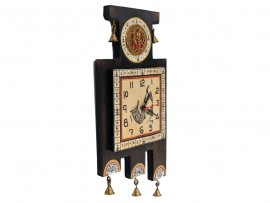 Wall Clock Antique Off White with Dhokra and warli Artwork