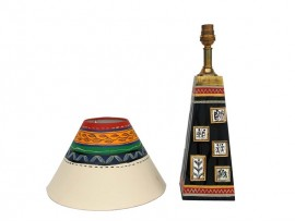 Wooden Patch Lamp - Black Gold